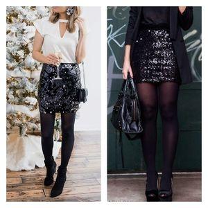 NWOT LOFT Sequin Skirt